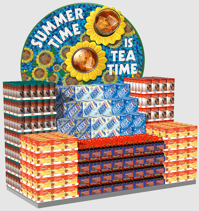 Lipton Tea End aisle